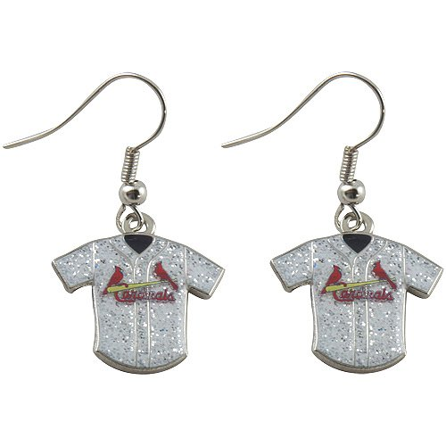 aminco MLB St. Louis Cardinals Team Logo Glitter Jersey Earring Sports Fan Gift