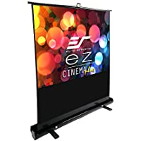 Elite Screens ezCinema Plus Series, 60-inch Diagonal 4:3, Floor Pull Up Portable Projection Screen, Model: F60XWV1
