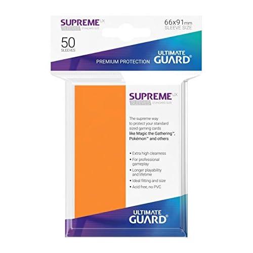 "Ultimate Guard Ugd10804""Supreme UX manches"" Jeu de cartes, Orange, taille standard"