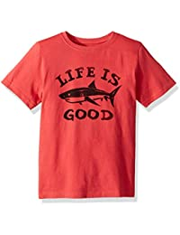 Sweaters Life is Good Womens Go-to Crew Heart Painted The Life is good Company