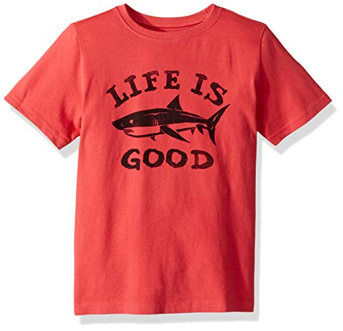 Life is Good Boys Crusher Graphic T-Shirt Collection,Shark,Small (Graphic Crusher)