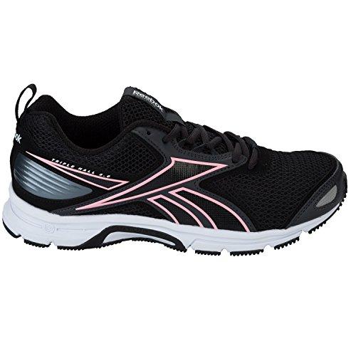 Reebok Triplehall 5.0 - Zapatillas de running Mujer Negro (Black / Coal / White / Poison Pink)