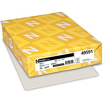 Neenah Exact Index, 110 lb, 8.5 x 11 Inches, 250 Sheets, Gray