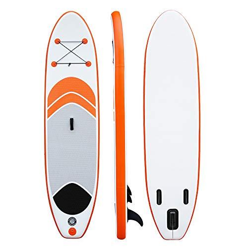 Paddel-Boot-Stand-10-Ft-SUP-Brett-Satz-Einstellbarer-Alu-Paddel-Pumpe-Reparatursatz-Rucksack-Anfnger-Inflatable-Paddleboard-Kit-Aufblasbare-Bretter-Color-Orange-Size-305x76x15cm
