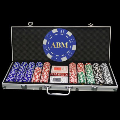 500 Personalized Poker Chip Set - Full Name, Initials or any custom text