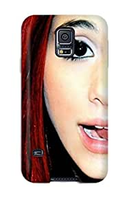 AnnDavidson Scratch-free Phone Case For Galaxy S5- Retail Packaging - Ariana Grande