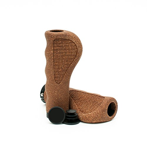 Asti Natural Cork Foam Bicycle Grips - Eco-Friendly Bike Handlebar Grips With Ergonomic Design For Comfort, Shock Absorbing And Non-Slip, Vintage Style For Cruiser And Fixie, Easy Installation (Bicycle Ergonomic Grips)