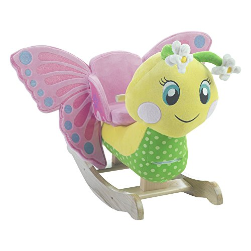 Plush Stuffed Butterfly Rocker Ride On  Toy For Toddler Girl  Plays Songs