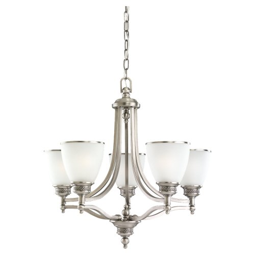 Sea Gull Lighting 31350-965 Laurel Leaf Five Light Chandelier, Brushed Nickel Finish ()