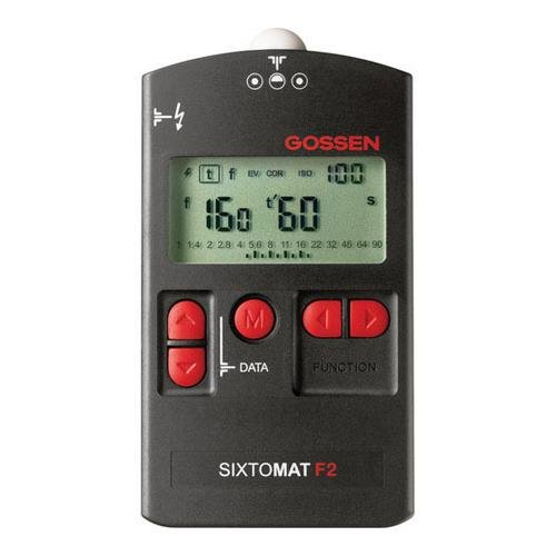 Gossen GO H264A Sixtomat F2 Light Meter f/Flash, Ambient, Cine and Reflective Metering (Black) by Gossen