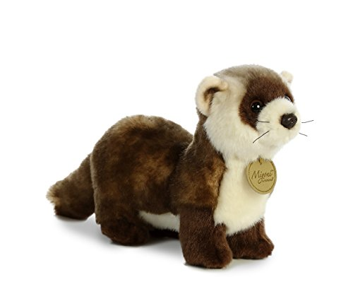 "Black Footed Ferret 10.5"" Miyoni Stuffed Animal"