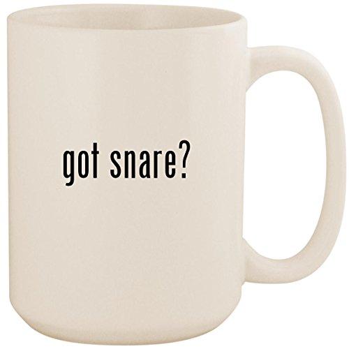 (got snare? - White 15oz Ceramic Coffee Mug Cup)