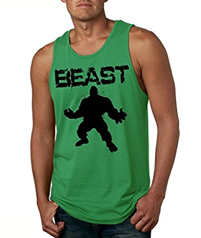 OCPrintShirts HULK Beast Gym Gear Workout TANK TOP L Green (Hulk Workout Tank)