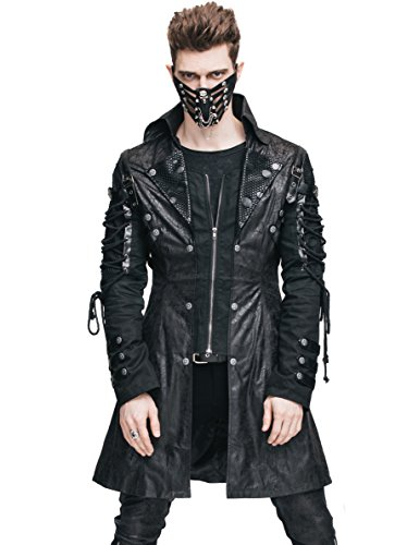 [Steampunk Coat Gothic Clothing Victorian Cyberpunk Punk Jacket Renaissance Costume (L)] (Woman Pirate Outfit Ideas)