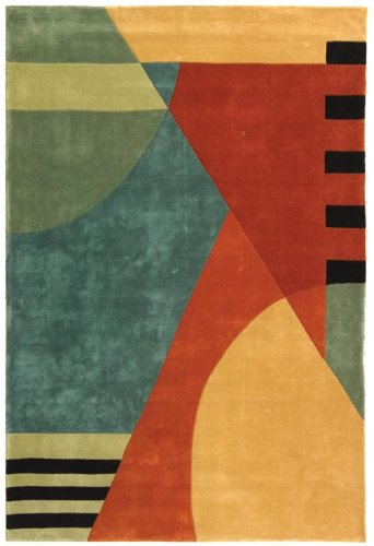 Safavieh Rodeo Drive Collection RD863A Handmade Modern Abstract Gold Wool Area Rug (2' x 3')