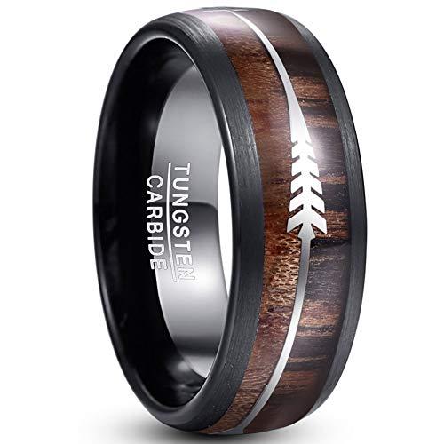 Vakki Herren Ring Hawaii Koa Holz