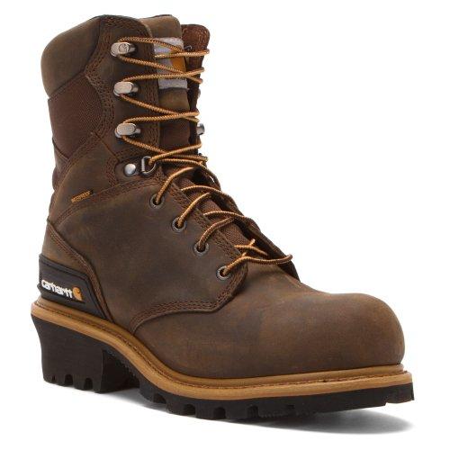 Carhartt Mens 8 Impermeabile In Pelle Sintetica Punta Boot Boot Cml8369 Brn Crazyhorse