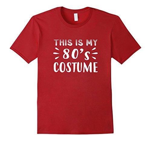 Mens Funny THIS IS MY 80s COSTUME Halloween T-Shirt Medium (80s Costumes Men Ideas)
