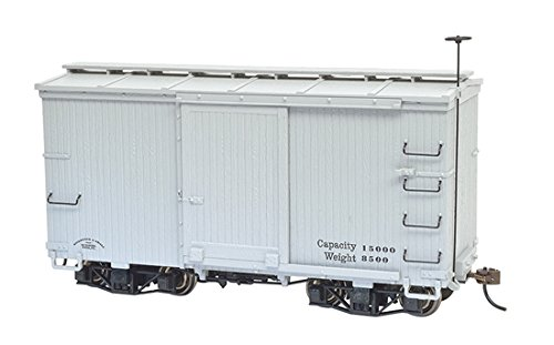 (18 ft. Box Car W/ Murphy Roof - Gray, undecorated (2 per box)ON30)