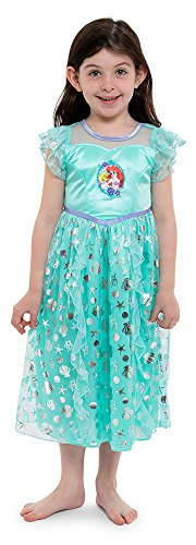 Disney Little Girls' Fantasy Nightgowns, Mint Mermaid, 6 -