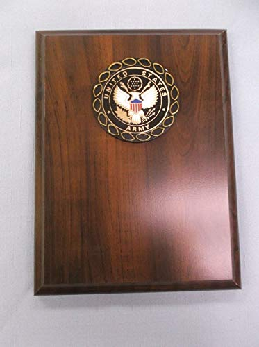- United States Army Full Color Relief Plaque Trophy Award 6 x 8 Cherry Finish