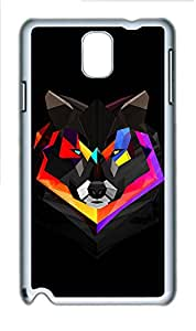 Samsung Galaxy Note 3 N9000 Cases & Covers - Techno Wolf PC Custom Soft Case Cover Protector for Samsung Galaxy Note 3 N9000 - White