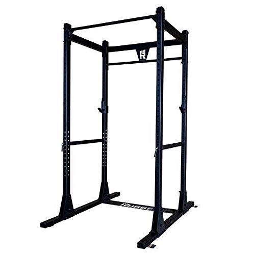 Rugged Fitness Power Rack Y100 with LAT, Bumper Set, Barbell