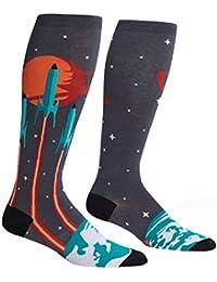 Launch from Earth Stretch-It, Unisex Socks, Men's Women's Galaxy Planet Socks