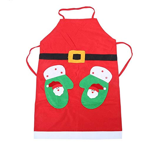 Aprons - Christmas Apron Cooking Dinner Household Cleaning Party Costumes Props Decoration - Pockets Wars Red Yellow Washable Matching Names Couples Under Italian -
