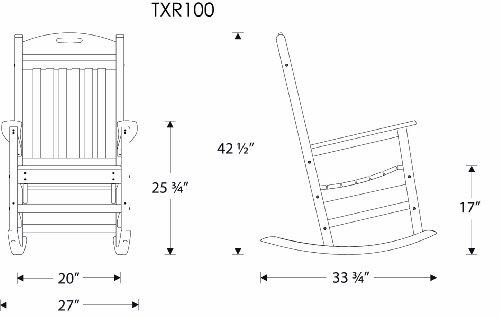 Trex Outdoor Furniture Yacht Club Rocker Chair, Classic White