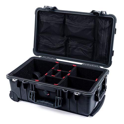 Black 1510 case with TrekPak dividers & mesh lid Organizer.