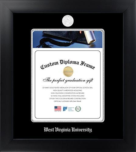 Celebration Frames West Virginia University 14 x 11 Matte Black Finish Infinity Diploma Frame