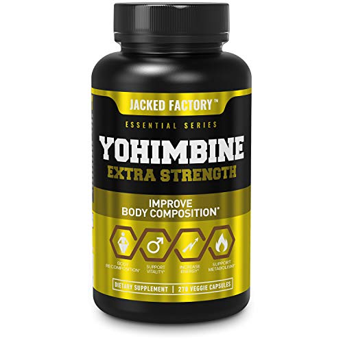 Yohimbine Extra Strength Supplement 2.5mg, 270 Capsules – Premium Yohimbe Bark Extract Supplement for Body Recomposition…