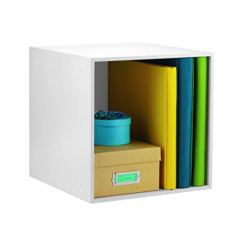 Ashland White Stackable Open Cube Storage