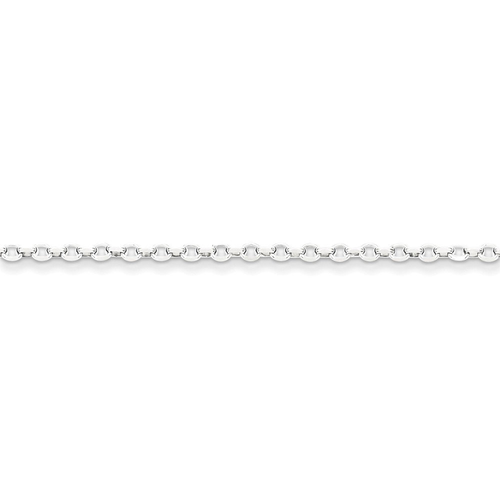 Sterling Silver 2.5mm 8 Side Diamond Cut Cable Chain