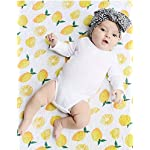 COLOOM-Baby-Toddler-Blankets-Premium-Organic-Muslin-Swaddle-Blankets-Receiving-Blanket-Burp-Cloths-Large-Size-47x47inches-120x120cm-Lemon