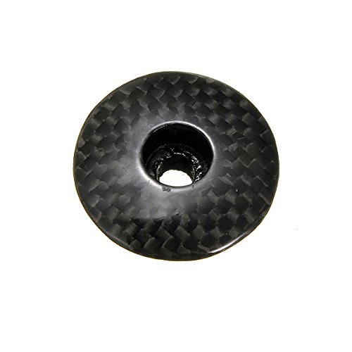 "Bicycle Carbon Fiber Stem Top Cap Threadless Headset 1 1/8"" MTB Bike"