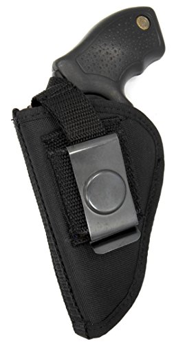 Usa Made Deluxe Belt & Clip-on Side Holster for SMALL FRAME/ J FRAME REVOLVERS 1 7/8 - 2 1/8
