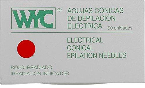 Aguja depilación recta 1, 5 - caja de 50 unidades Wyc