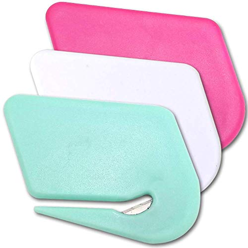 - Uncommon Desks Colorful Letter Openers - Mint Green, Hot Pink, Daisy White (Trendy Pack, 3 Pieces)