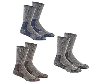 7905a5f0875 Mens Thick Walking Socks Multipack Cushioned Sole Wool Mix Work Boot Socks  Cheap 6 PACK (