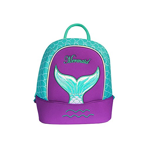 [Nohoo Kids Mermaid Backpack 3D Cute Sea Cartoon School Girls twins Bags (mermaid-purple)] (Pink Lady Costume Images)
