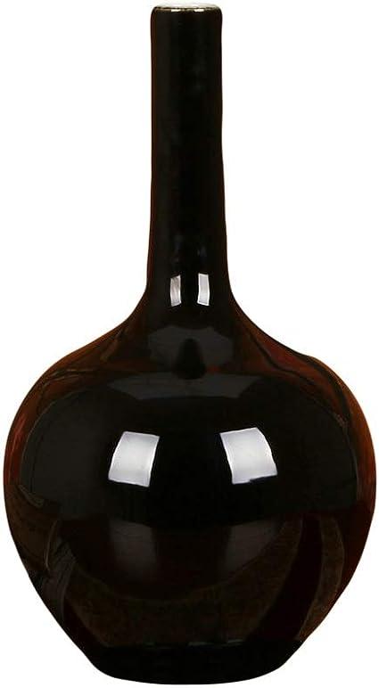 Honglianriven Decoration De La Maison Vase Ceramique Couleur Noir Or Glaze Vase Simple Maison Moderne Artisanat Decoration Decoration 8 27 Size M Amazon Fr Cuisine Maison