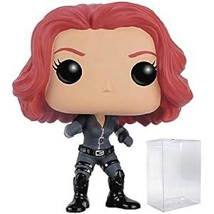 41trFeoOicL. SS300 Marvel: Captain America 3 Civil War - Black Widow Funko Pop! Vinyl Figure (Includes Compatible Pop Box Protector Case)