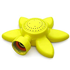 Glorden Flower Design Circular Spot Sprinkler with Gentle Water Flow for Kids and Lawn
