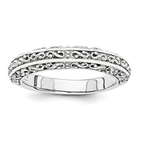 ICE CARATS 14k White Gold Anniversary Wedding Ring Band Size 7.00 Fancy Fine Jewelry Gift Set For Women Heart by ICE CARATS (Image #4)
