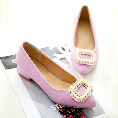 Fall Office Heel Lace upRed 2 Patent Career Walking Heels Summer Chunky Women's LvYuan amp; eu34 5 us4 5 uk2 ggx Beige Novelty purple Casual PU Leather 4 Comfort cn33 Wedding Synthetic I7UxHwqH