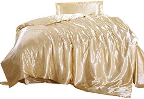 3 Unidades ToDIDAF Juego de sábanas de satén con Tacto de