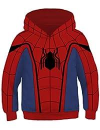 Teens Kids Miles Morales Cosplay Peter Parker Spider Hoodie Pullover