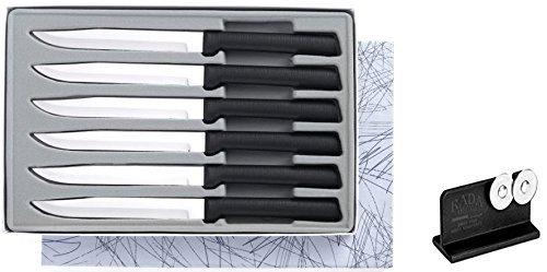 Rada Cutlery G206 6-Utility Steak Knife Gift Set Plus R119 Knife Sharpener